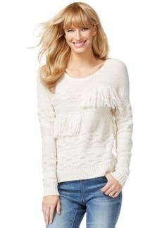 Inc International Concepts Mixed-Knit Fringe Sweater, Only at Macy's