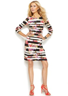 INC International Concepts Mixed-Print Bodycon Dress