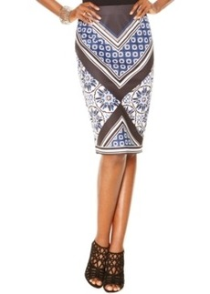 Inc International Concepts Mixed-Print Pencil Skirt