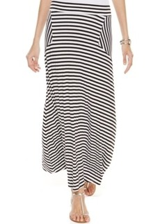Inc International Concepts Petite Mixed-Stripe Maxi Skirt