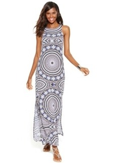 INC International Concepts Petite Mosaic-Print Maxi Dress