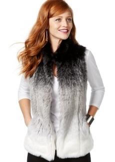 Inc International Concepts Ombre Faux-Fur Vest, Only at Macy's