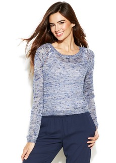 INC International Concepts Open-Back Marled-Knit Sweater