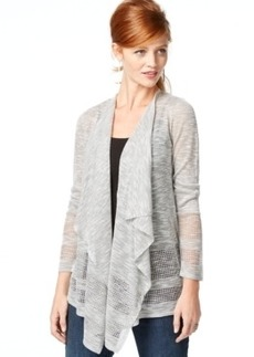 Inc International Concepts Open-Knit Draped Cardigan, Only at Macy's
