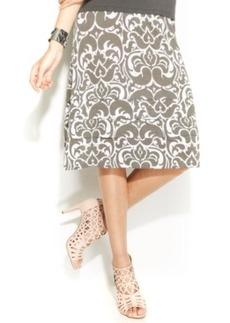 INC International Concepts Paisley-Print A-Line Skirt