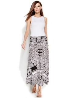 INC International Concepts Paisley-Print Convertible Maxi Skirt