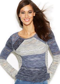 INC International Concepts Patchwork Sweater