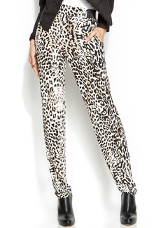 INC International Concepts Petite Animal-Print Tapered-Leg Soft Pants