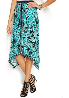 INC International Concepts Petite Asymmetrical Bohemian Maxi Skirt