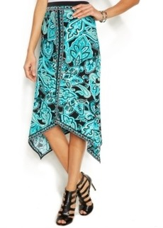 INC International Concepts Petite Asymmetrical Bohemian Maxi Skirt