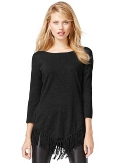 Inc International Concepts Petite Asymmetrical Fringe-Hem Tunic, Only at Macy's