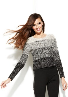 INC International Concepts Petite Block-Ombre Cropped Pullover