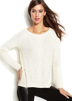 INC International Concepts Petite Cable-Knit Sweater