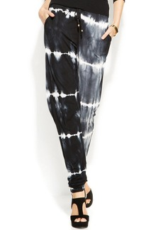 INC International Concepts Petite Contrast-Dye Tapered-Leg Soft Pants