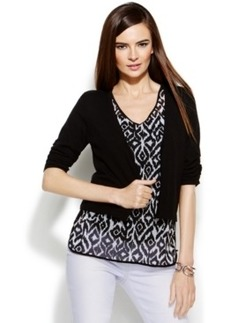 INC International Concepts Petite Cropped Open Cardigan