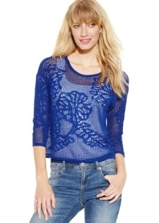 Inc International Concepts Petite Cropped Open-Knit Sweater