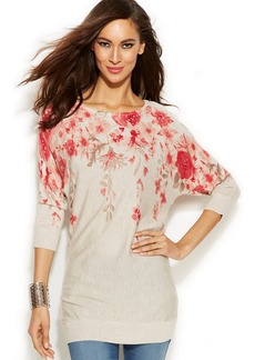 INC International Concepts Printed Floral Tunic