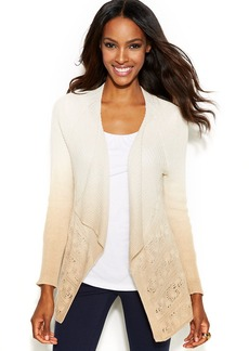 INC International Concepts Draped Dip-Dye Cardigan