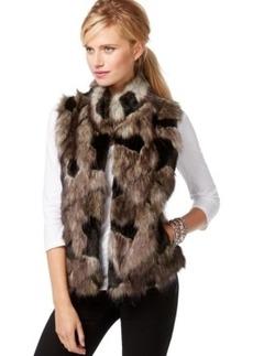 Inc International Concepts Petite Faux-Fur Knit-Back Vest, Only at Macy's