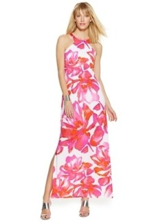 INC International Concepts Petite Floral-Print Halter Maxi Dress