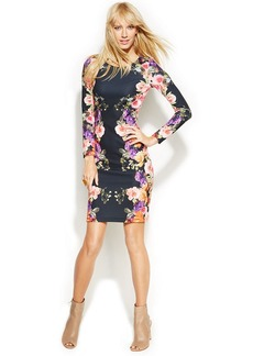 INC International Concepts Petite Floral-Print Sheath Dress