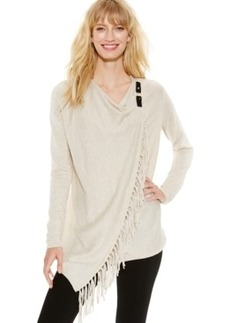 Inc International Concepts Petite Fringe Wrap Cardigan, Only at Macy's