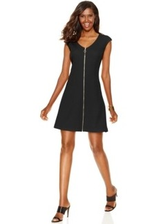Inc International Concepts Petite Front-Zip Flare Dress, Only at Macy's