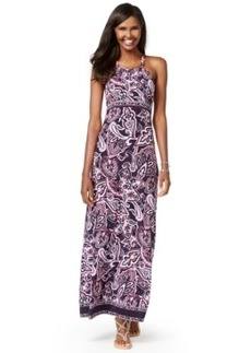 Inc International Concepts Petite Hardware Halter Maxi Dress, Only at Macy's