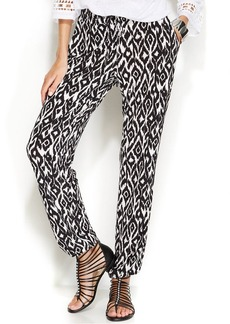 INC International Concepts Petite Ikat-Print Jogger Pants