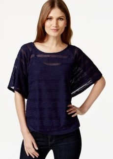 Inc International Concepts Petite Illusion-Stripe Top