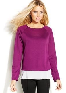 INC International Concepts Petite Layered-Look Sweater