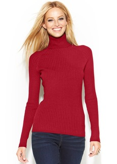 INC International Concepts Petite Long-Sleeve Ribbed Turtleneck