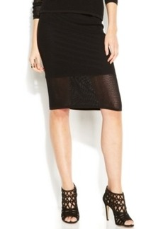 INC International Concepts Petite Perforated Illusion Pencil Skirt