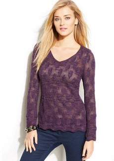 INC International Concepts Petite Pointelle Sweater