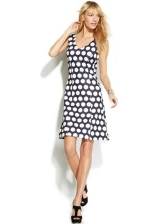 INC International Concepts Petite Polka-Dot A-Line Dress