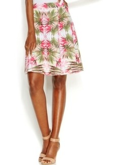 INC International Concepts Petite Printed Flare Skirt