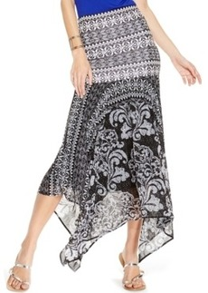 Inc International Concepts Petite Printed Handkerchief-Hem Convertible Maxi Skirt