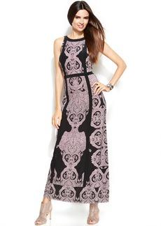 INC International Concepts Petite Printed Maxi Halter Dress