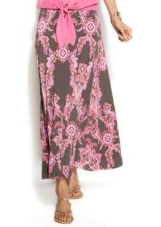 INC International Concepts Petite Printed Maxi Skirt