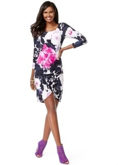 Inc International Concepts Petite Printed Tulip-Hem Sheath Dress, Only at Macy's