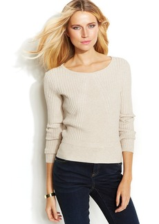 INC International Concepts Petite Ribbed Cropped Sweater