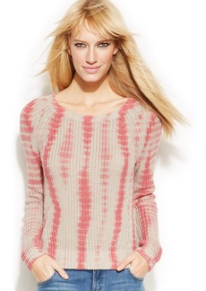 INC International Concepts Scoop-Neck Tie-Dye Sweater
