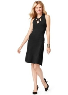 Inc International Concepts Petite Sleeveless Cutout Sweater Dress, Only at Macy's
