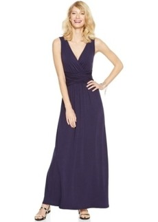 INC International Concepts Petite Sleeveless Ruched-Waist Maxi Dress