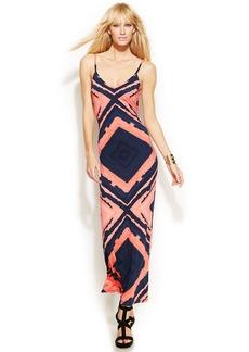 INC International Concepts Spaghetti-Strap Printed Maxi Dress