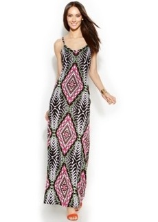 INC International Concepts Petite Spaghetti-Strap Printed Maxi Dress