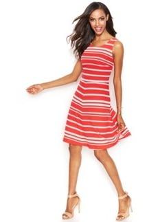 INC International Concepts Petite Striped A-Line Dress