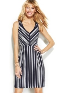 INC International Concepts Petite Striped A-Line Dress