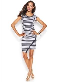INC International Concepts Petite Striped Sheath Dress