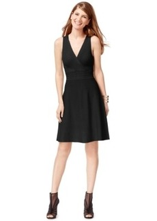 Inc International Concepts Petite Surplice Pintucked Sweater Dress, Only at Macy's